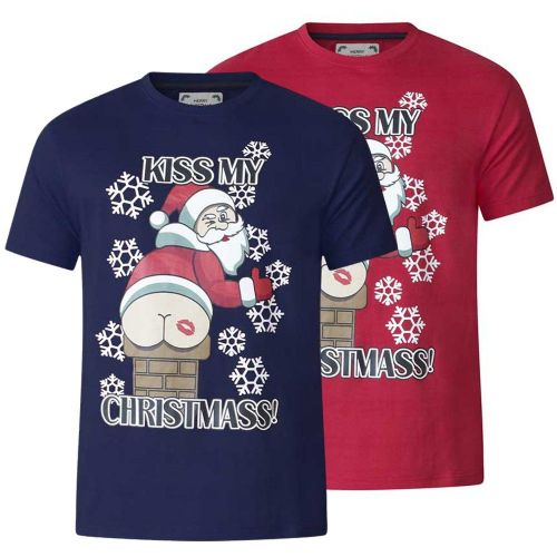 D555 NAUGHTY CHRISTMAS T SHIRT